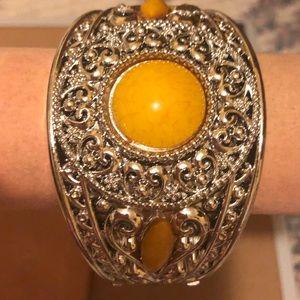 Yellow Gem Silver Fashion Bracelet New